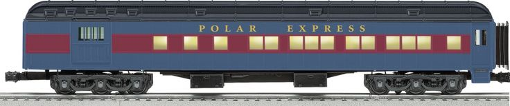 "Polar Expess Heavyweight Combination Car Features Die-cast metal sprung trucks and operating couplers Hidden uncoupling tabs Flexible diaphragms between cars Opening doors Authentic Polar Express decoration and details Overhead interior lighting with On/Off switch Super-detailed with many separately-applied parts Detailed interior floor plan Gauge: Standard O Dimensions: Length: 19"" Minimum Curve: O-54"