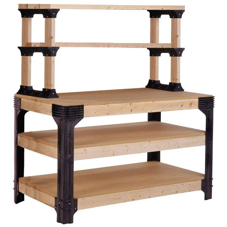 Diy 2x4 Shelving Unit: Workbench Shelving Unit Potting Bench Storage System
