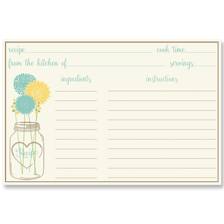 Have Guests Share Recipe Cards At Your Bridal Shower With This Country Wedding Themed Card