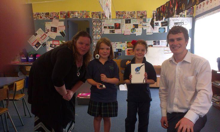 Sandra Spekreijse, Deputy Principal at Prebbleton School in Christchurch, winner of a Hue HD Camera from ACTIVboardNZ.