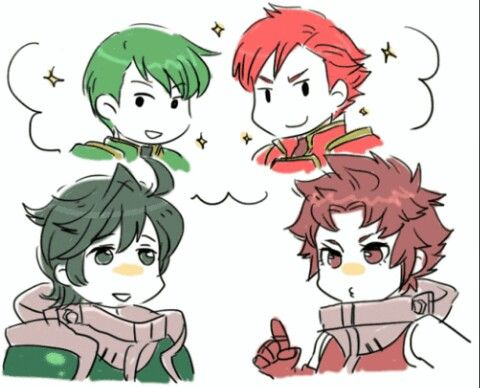 I wonder who our red and green horse riders are going to be for THE NEW FIRE EMBLEM