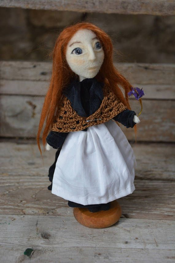 Mary is a collectible needle felted OOAK art doll, a portrait doll inspired by Mary Jane Kelly, the last victim of Jack the Ripper. I made it for a customer   by Puplliae   #artdoll                              #handmadedoll #handmade #pupillae #jacktheripper #maryjanekelly #needlefelting