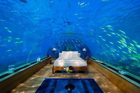 Spend the night in an underwater hotel.