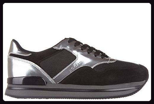 Hogan Damenschuhe Turnschuhe Damen Leder Schuhe Sneakers h222 sportivo xl allacciato Schwarz EU 39 HXW2220N6249I70353 - Sneakers für frauen (*Partner-Link)