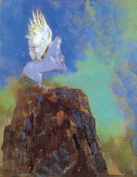 Odilon Redon -Pegasus ,1900