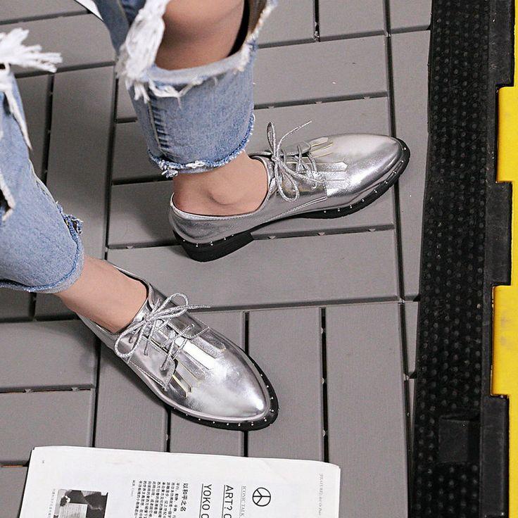 Esveva 2017 весна осень обувь британский стиль зашнуровать острым носом женщины Насосы Квадратных Мед Пятки Вскользь Женская Обувь Большой Размер 34 43купить в магазине ESVEVA Official StoreнаAliExpress