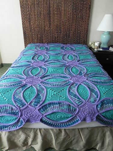 ravelry mamadanz 39 s double wedding ring quilt crochet pinterest quilt wedding and wedding. Black Bedroom Furniture Sets. Home Design Ideas