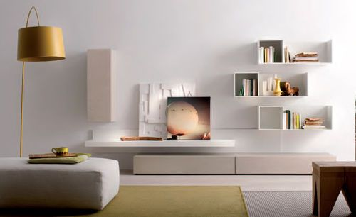 Contemporary living room wall unit B109  md house