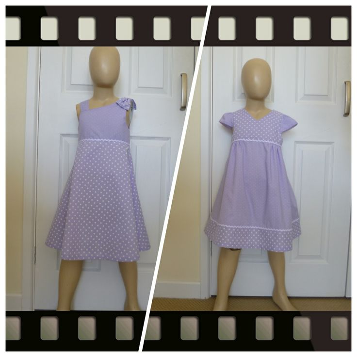 Lovely Lilac spot fabric fully lined dresses