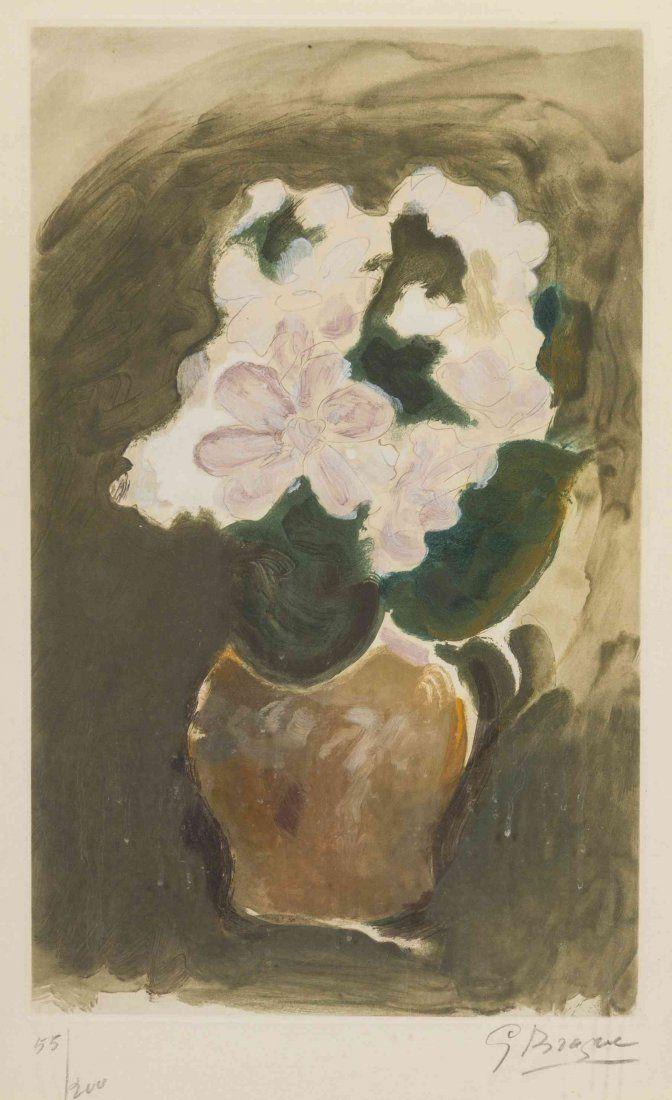 Georges Braque, Les Fleurs Violetes, 1960 | Sing ...