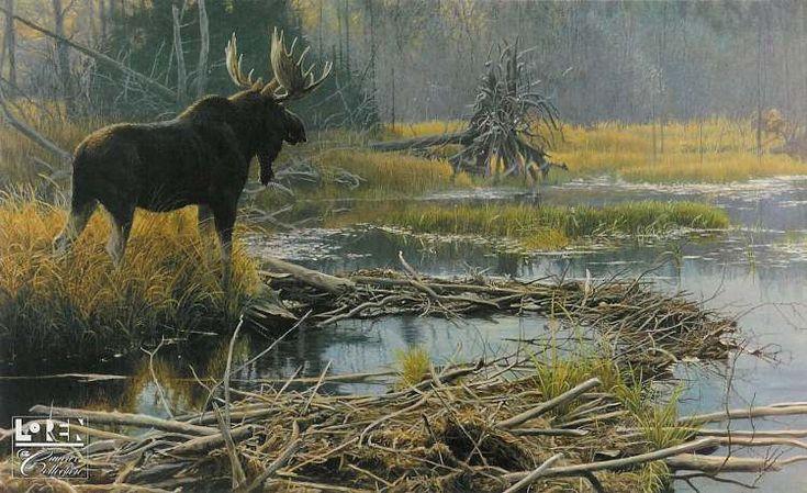 Robert Bateman Autumn Overture Moose