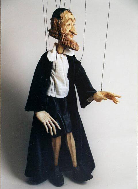Rabbi ,  Czech marionette puppet