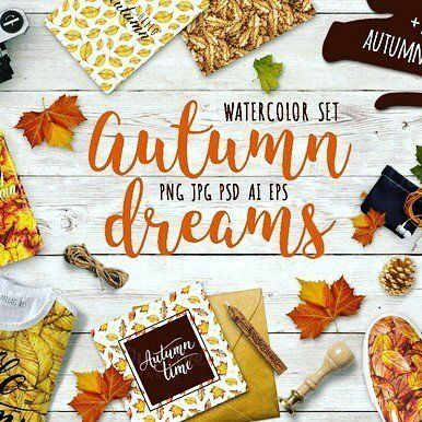 designeour:    #Watercolor autumn #leaves by MiraEl...