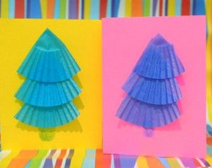 For a quick Christmas card fix, make Cute Christmas Cupcake Liner Tree Cards. They are affordable, adorable, and easy kids' crafts.