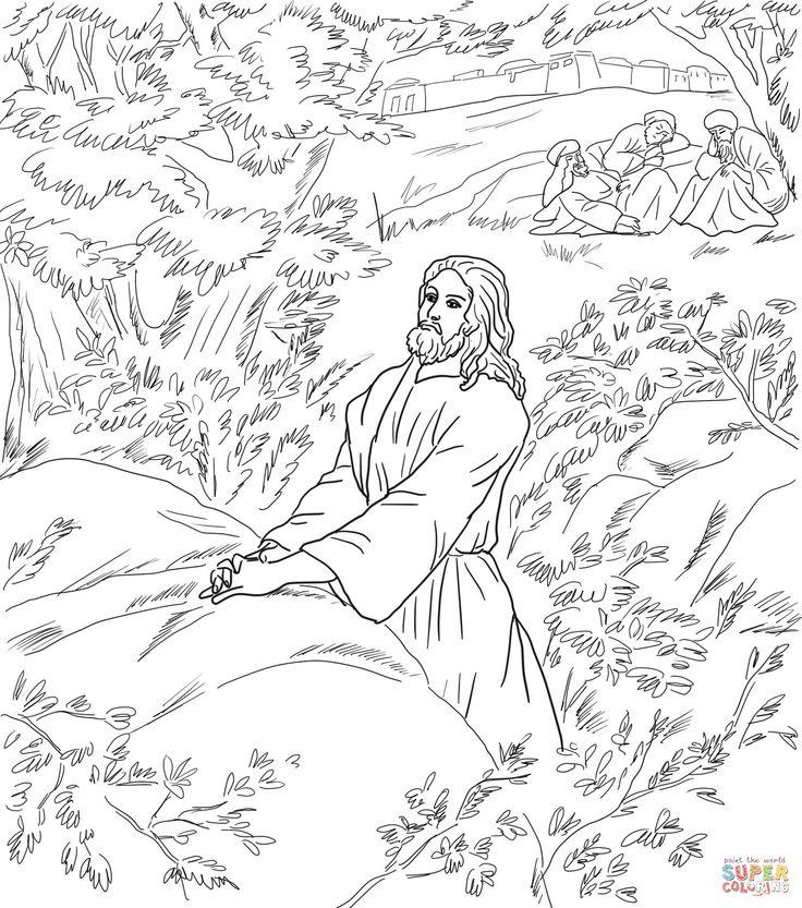 Jesus Prays In The Garden Of Gethsemane Disciples Sleeping