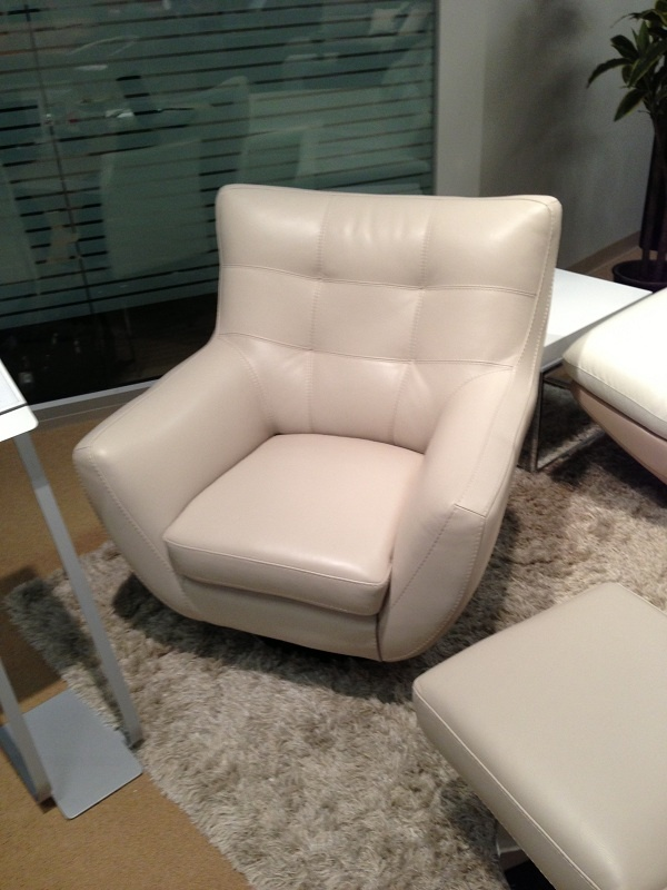 White Leather Chair With Flair By HTL Furniture