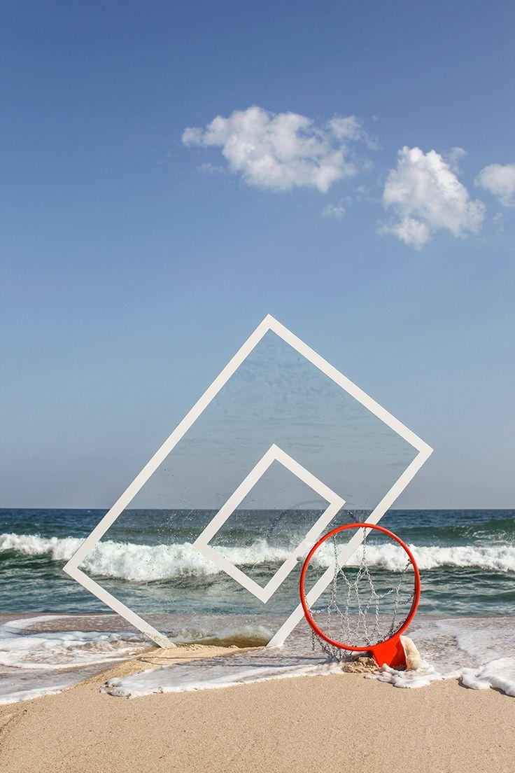 Hoop Dreams: John Margaritis verschmilzt Basketball mit dem Strand   – Landscape Design