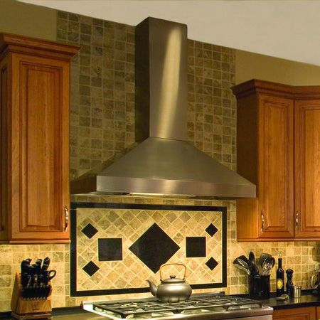 "Vent-a-Hood EPH18242SS Euroline+Pro+42""+Stainless+Steel+Chimney+Style+Wall+Mount+Range+Hood"