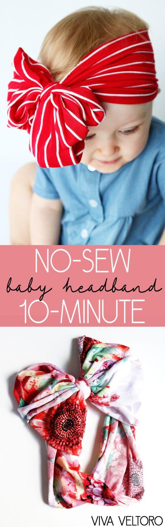 no sew diy baby headband