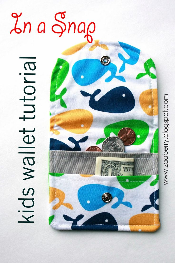 It's never too early to start teaching your kids the value of saving money. With this guide from Zaaberry, use bright and colorful fabric to create a kid's wallet. The step-by-step visual guide will help you create one with fun and ease.