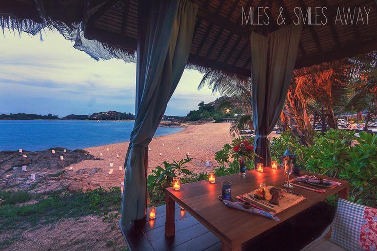 romantic dinner at the beach in Tongsai Bay