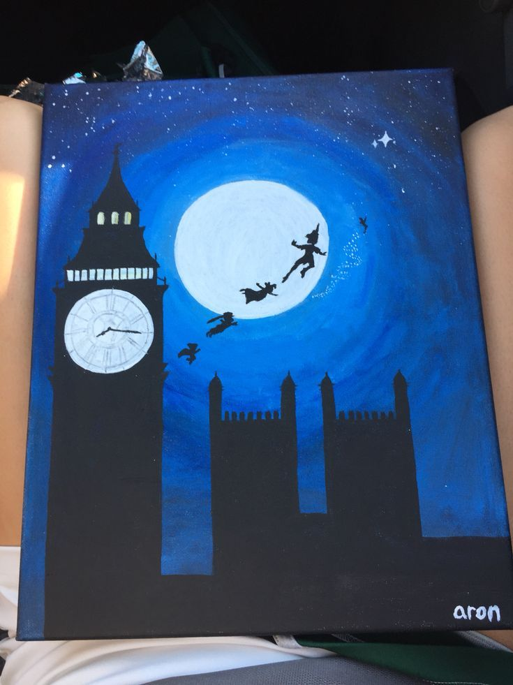 For My Momma S Bday Peterpan Canvas Disney Disney Canvas Art Disney Canvas Paintings Disney Art