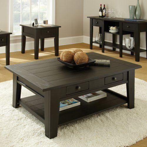 Black Coffee Table Sets with End Tables