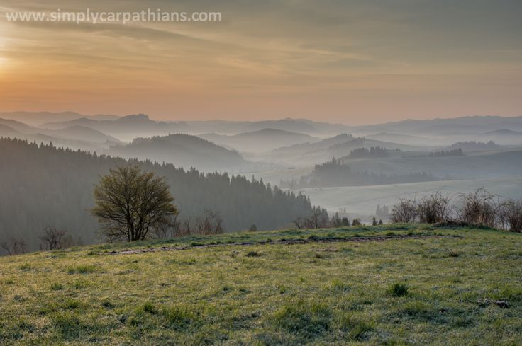 Early morning in the Pieniny Mountains, Poland.