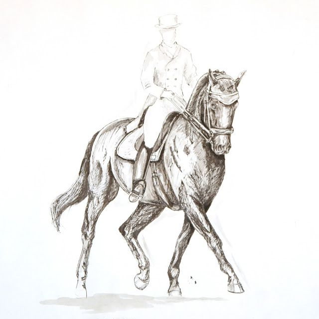 MZ - horse art: Dressage I