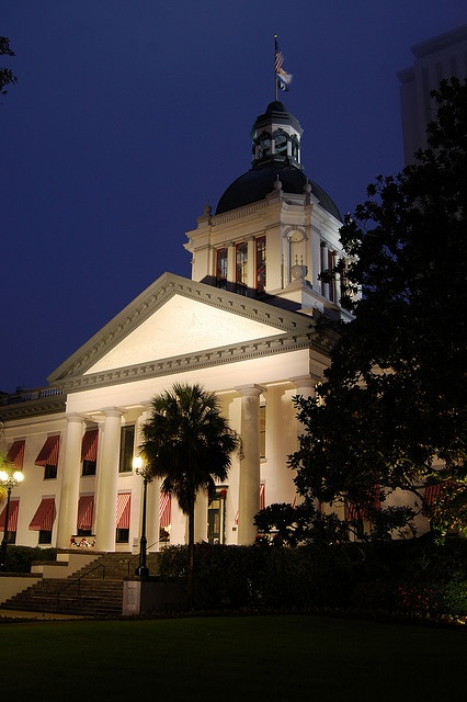 The Old State Capitol building in Tallahassee, Florida. The building was built in 1845 and was added to the National Register of Historic Places in 1973.
