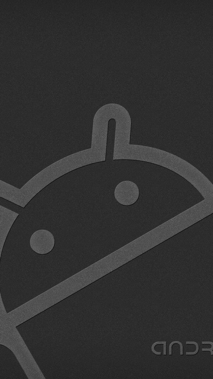 Android Robot Gray Wallpaper for Mobile 720x1280