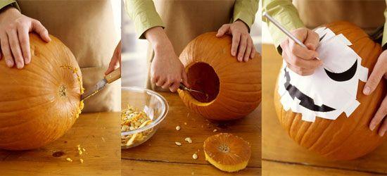 Halloween DIY - hoe een pompoen uithollen