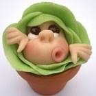 Cupcake versieren. Cabbage patch baby!