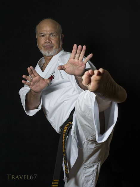 Kiyohide Shinjo, a 9th-dan Uechi Ryu karate master and a nine-time all-Okinawa kata and kumite champion. He dominated karate to such an extent he was known as the Okinawan Superman.