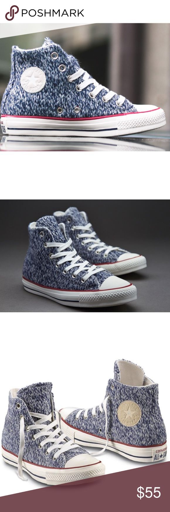 🎉FINAL SALE! CONVERSE WOMENS NAVY WHITE SIZE 8.5 Brand me without box Converse Shoes Sneakers