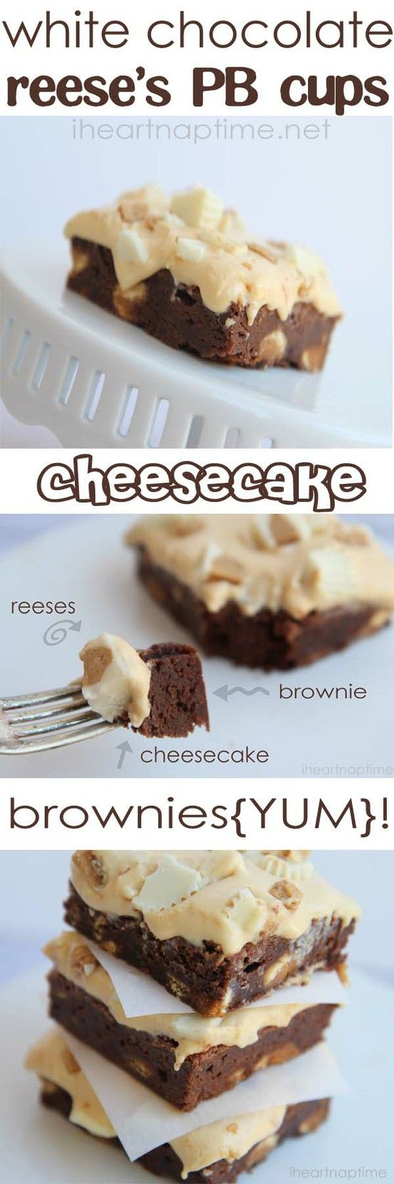 White chocolate...reese's peanut butter cup...cheese cake...brownies. Wow! Can it get any better than that?!