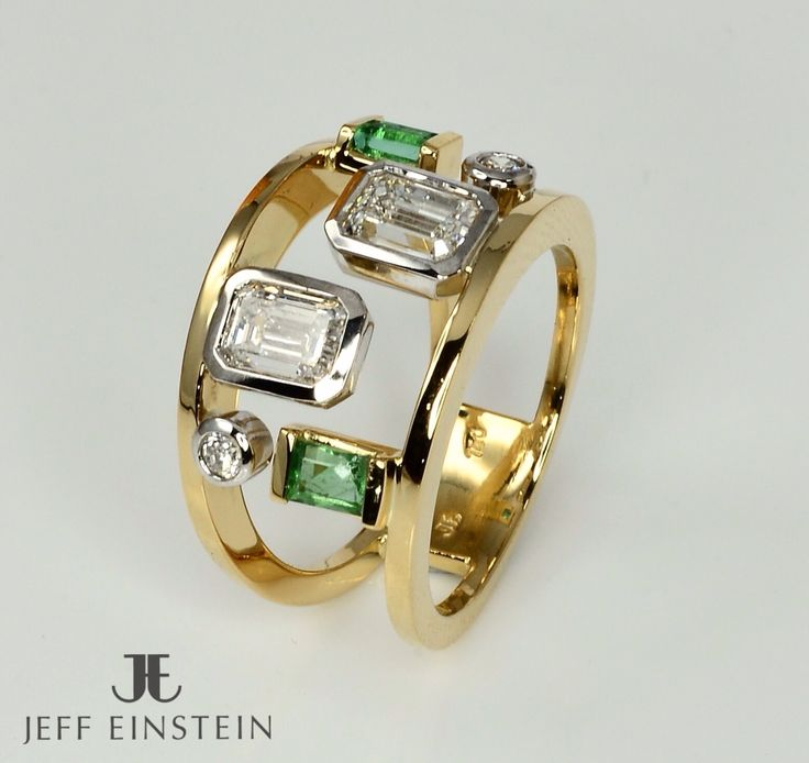 An elegant custom made diamond and emerald ring recently completed by our on-site jewellers.  #jeffeinsteinjewellery #doublebay #sydney #finejewelry #jewellery #jewelry #diamond #handmadejewelry #diamonds #diamondring #emerald #customdesign