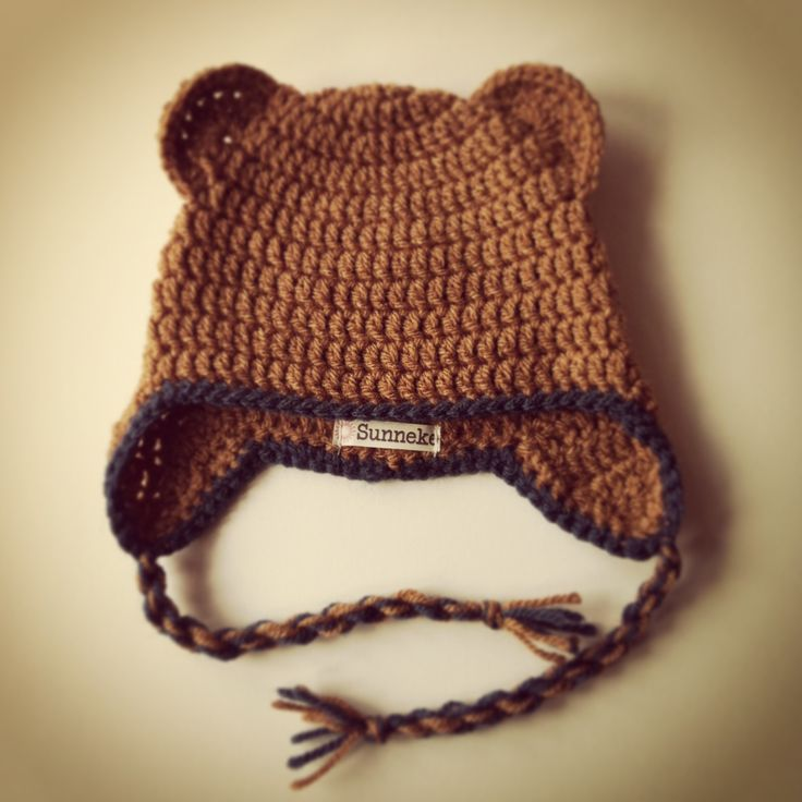 Baby hat with ears and earflaps - Made by Sunneke
