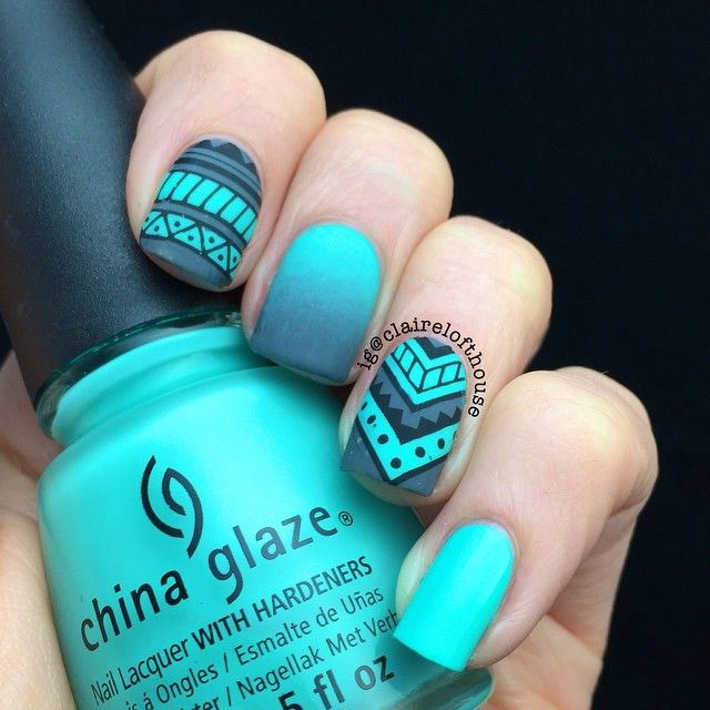 "1,015 Likes, 28 Comments - Claire Lofthouse (@clairelofthouse) on Instagram: ""Day 11 #clairestelle8april tribal reverse stamped with @topatopa_fr TP-03 using @mundodeunas black…"""