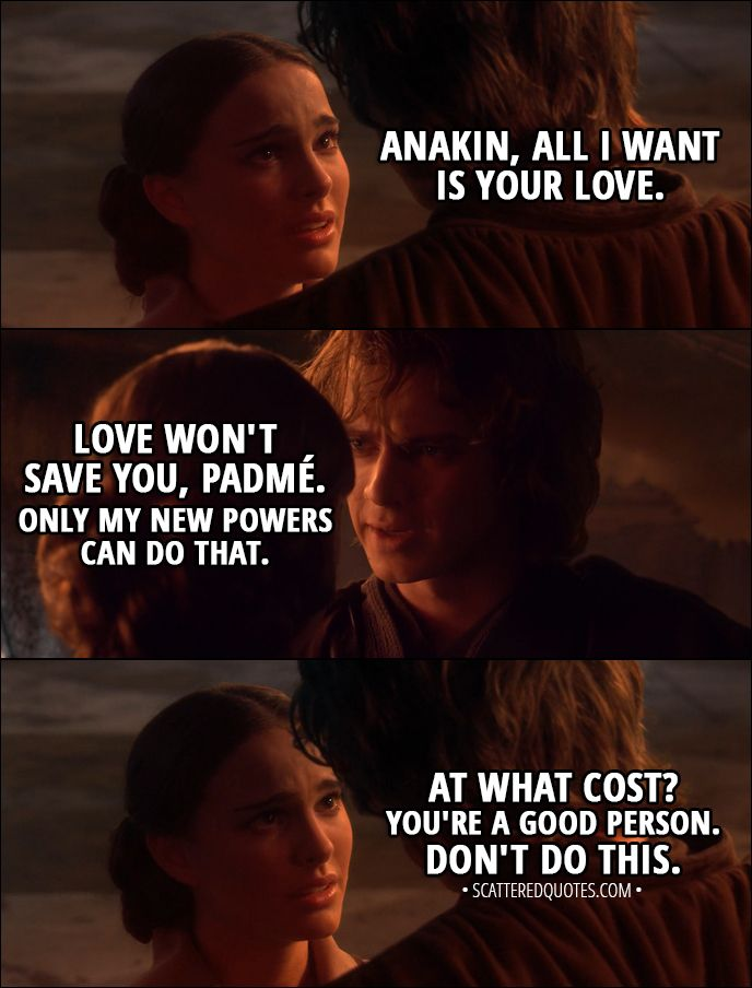 40 Best Star Wars Revenge Of The Sith Quotes 2005 Star Wars Quotes Star Wars Anakin Star Wars Padme