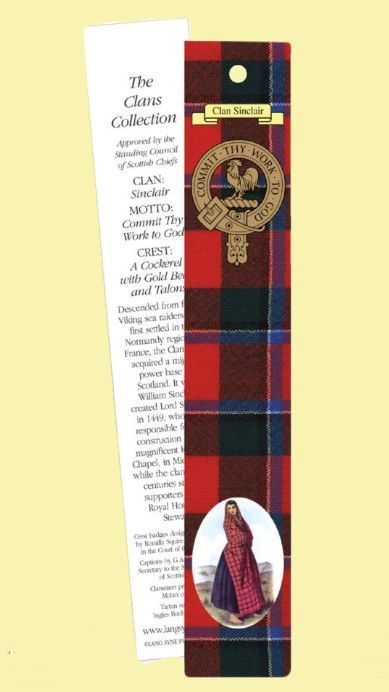 For Everything Genealogy - Sinclair Clan Tartan Sinclair History Bookmarks Set of 2, $3.00 (http://www.foreverythinggenealogy.com.au/sinclair-clan-tartan-sinclair-history-bookmarks-set-of-2/)
