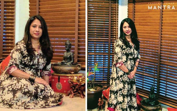 Lekha Eswar from Chicago again! This time, charming us in this floral printed kurti, thank you Lekha for adding much glee to our weekend by sharing these lovely photographs! #MantraFamily #Mantra #ShaliniJamesMantra