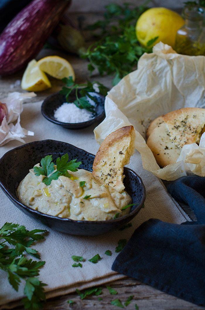 Sabores y Momentos | Dip de berenjenas asadas y yogur griego | http://saboresymomentos.es