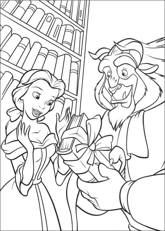 Beauty and the beast colouring pages