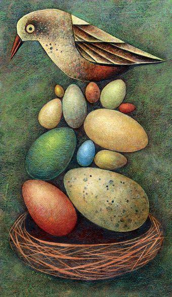 Sarah Tyson: Birds Art, Saratyson, Folk Art, Art Style, Sara Tyson, Easter Eggs, Art Sara, Eggs Art, Sarah Tyson