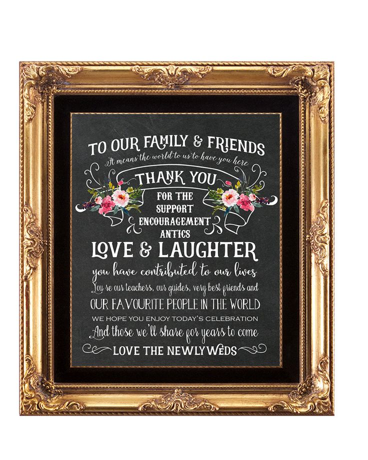 chalkboard wedding sign, printable wedding sign, thank you wedding sign, digital wedding sign, printable thank you sign, 8x10 by OurFriendsEclectic on Etsy