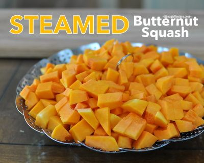 How to Steam Butternut Squash in a Collapsible Steamer Basket ♥ AVeggieVenture.com. WW2.