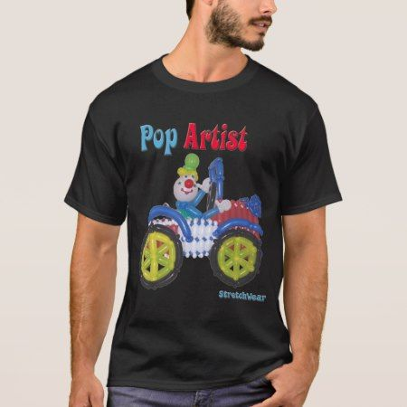 Balloon Clown in Car saying Balloon Pop Artist T-Shirt - tap, personalize, buy right now!