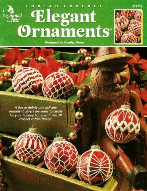 X071 Crochet PATTERN Book ONLY Elegant Ornaments Covers Christmas RARE