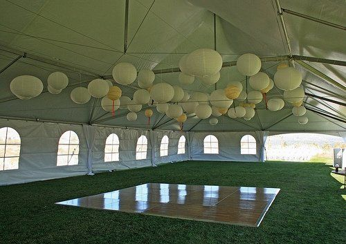 Great site for advice about wedding tent rentals. It even tells you how to calculate what size tent you'll need.